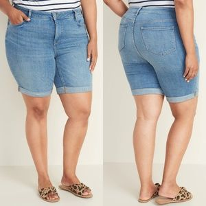 24 Old Navy Plus Denim Bermuda Jean Shorts NWT